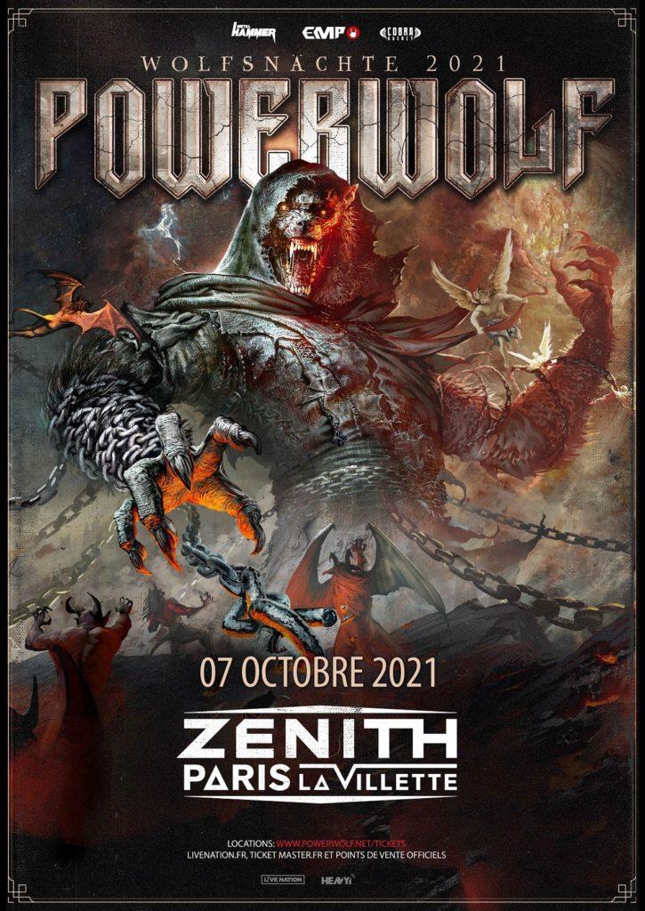 Powerwolf Zénith de Paris 2021