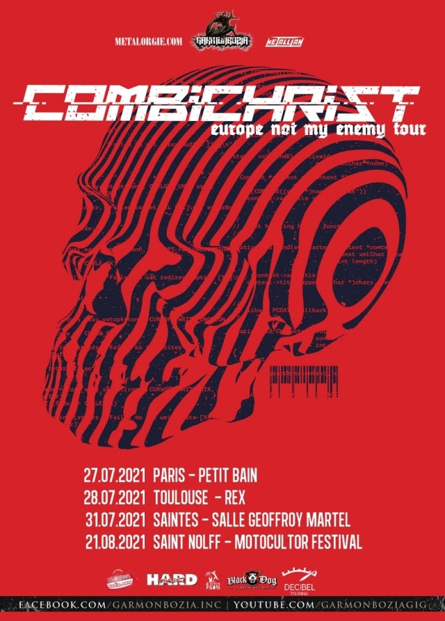 combichrist flyer tour 2021 france