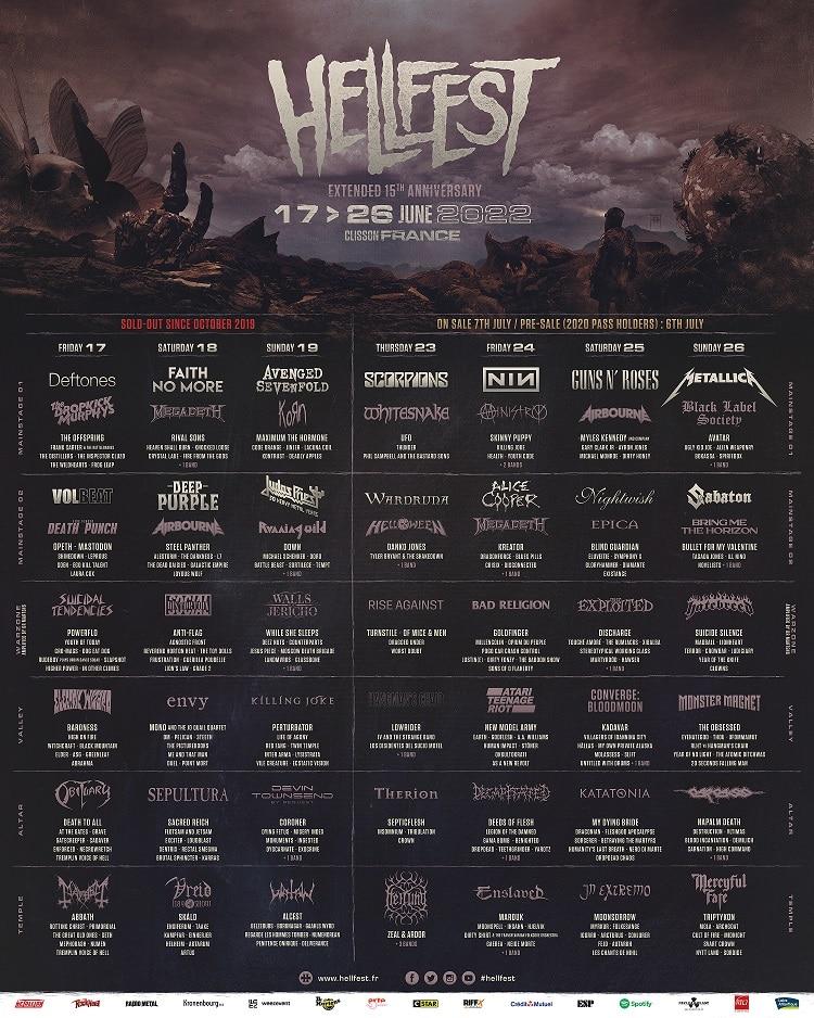 Hellfest 2022 lineup